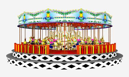 Carousel isolated on white background Stock Photo