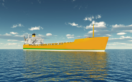 Cargo ship Archivio Fotografico - 119080164