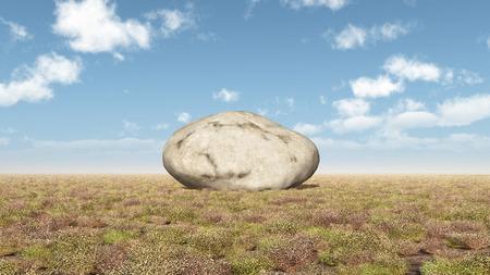 Rock in a landscape Stock Photo