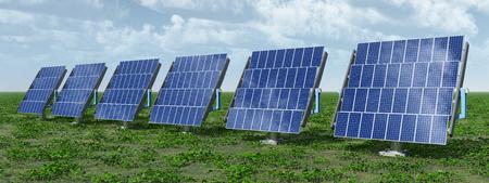 Solar panels in a landscape Archivio Fotografico - 117221395