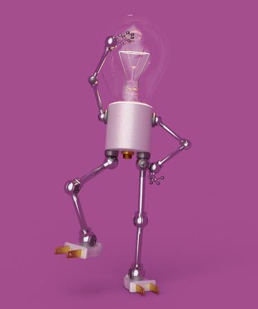 Light bulb figure Banco de Imagens - 117221684