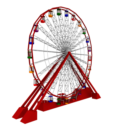 Ferris wheel isolated on white background