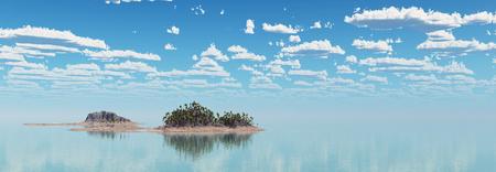 Tropical island in the sea Standard-Bild - 117221917