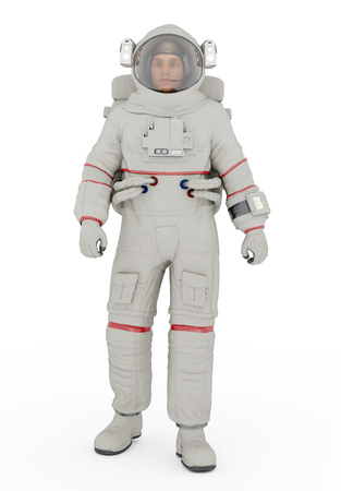 Astronaut against a white background