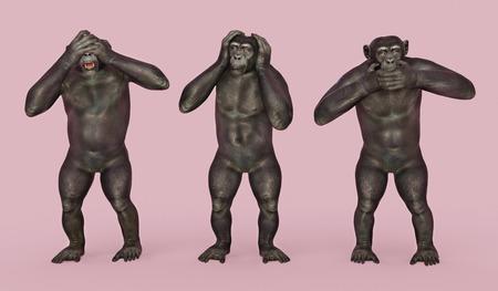 Three wise monkeys Stok Fotoğraf