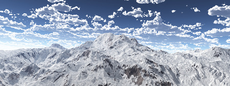 Mountain panorama with a cloudy sky Stock Photo