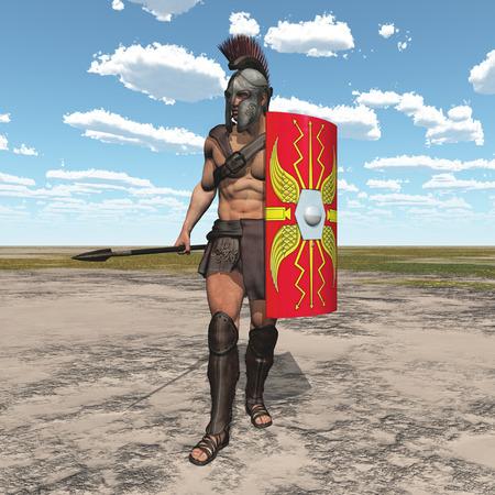 Roman centurion in a landscape