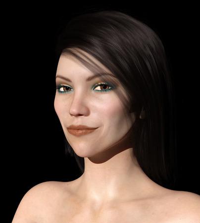 Portrait of a young woman Фото со стока