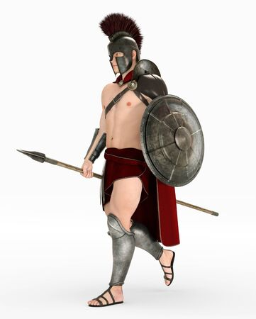 Hoplite soldier from ancient Greece