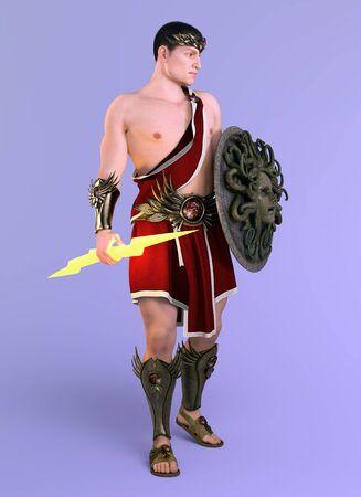 Greek god Zeus, king of the gods Фото со стока