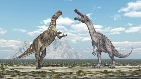 Altirhinus and Suchomimus