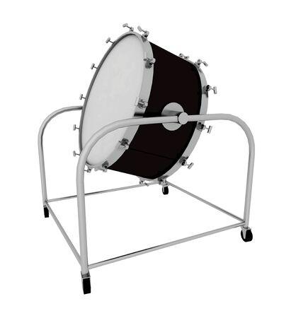 Drum isolated on white background Stock Photo