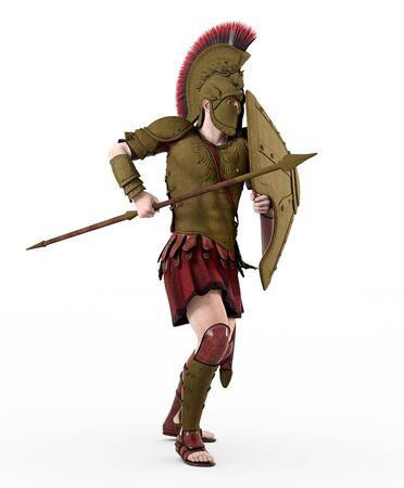 Spartan warrior from ancient Greece Фото со стока - 128766943