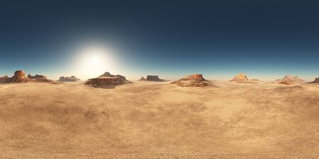 Spherical 360 degrees seamless panorama with a desert landscape Фото со стока