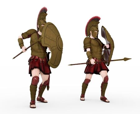 Two Spartan warriors from ancient Greece