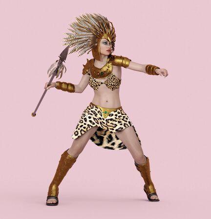 Female Amazon fighter Фото со стока - 128055583