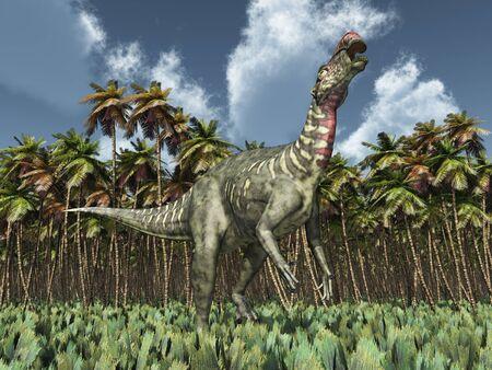 Dinosaur Altirhinus Фото со стока