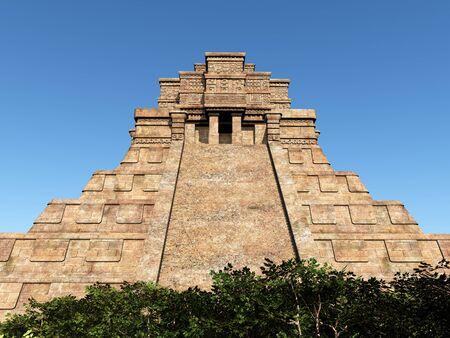 Mayan temple in the jungle Stock fotó