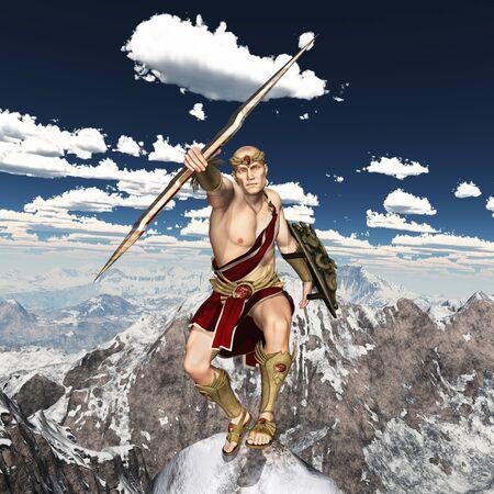 Greek god Zeus, king of the gods Stok Fotoğraf