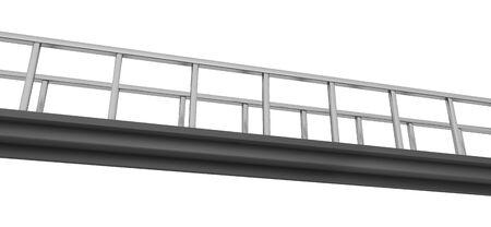 Small pedestrian bridge isolated on white background