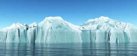 Iceberg in the open sea