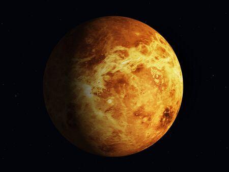 Planet Venus, partially illuminated by the sun Stock fotó