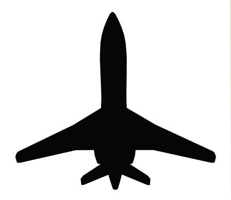 Silhouette of an airliner Stok Fotoğraf