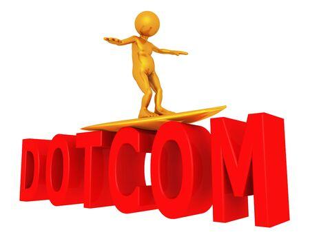 Surf the Internet, Dotcom, Com Domain