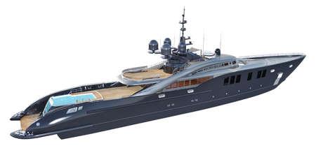 Luxury yacht isolated on white background