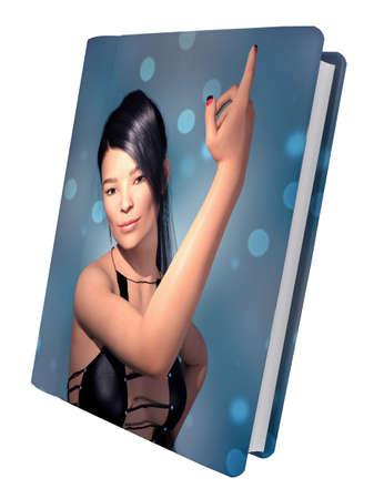 Artbook isolated on white background