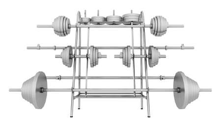 Fitness machine isolated on white background Stok Fotoğraf