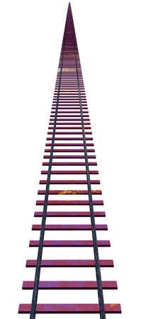 Rail isolated on white background