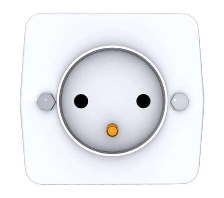 Socket isolated on white background