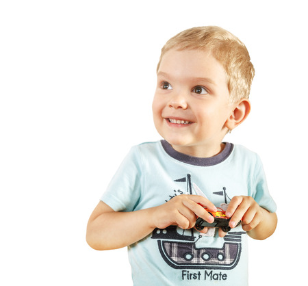 face expression: Kid funny face expression smile Stock Photo