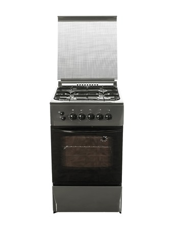 hobs: Gas Cooker with Single Oven front view isolated over white