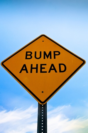 Road sign bump ahead photo