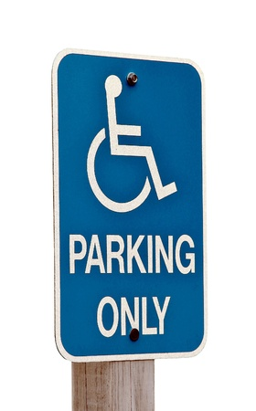 Wheelchair blue sign Banco de Imagens - 13606179