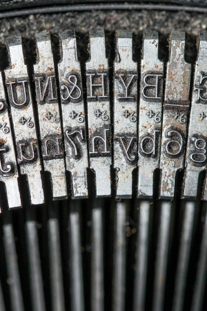 Typewriter detail photo
