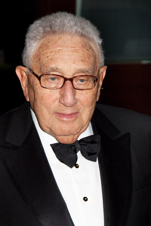 NEW YORK - SEPTEMBER 21: Dr. Henry Kissinger arrives at the season opening of the Metropolitan Opera  September 21, 2009 in New York City.