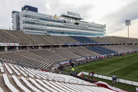 HARTFORD - OCTOBER 10: Rentschler Field stadium between US Men s National Team vs Ecuador, on October 10, 2014, in Rentschler Field stadium, Hartford, USA.