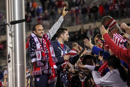 HARTFORD - OCTOBER 10: Landon Donovan after US International Friendly match between US Men s National Team vs Ecuador, final score 1 - 1, on October 10, 2014, in Rentschler Field stadium, Hartford, USA. Editorial
