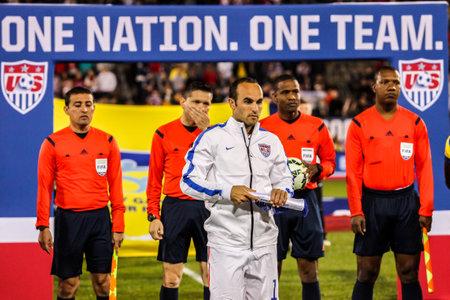 HARTFORD - OCTOBER 10: Landon Donovan on Rentschler Field stadium before soccer match between US Men`s National Team vs Ecuador, on October 10, 2014, in Rentschler Field stadium, Hartford, USA.