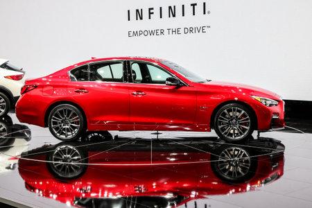 Charming NEW YORK  APRIL 12: Infiniti Q50 S Shown At The New York International Auto