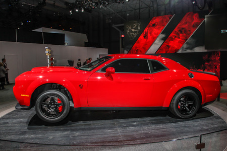 NEW YORK APRIL Dodge Challenger SRT Demon Shown At Stock - Car show 2018 nyc