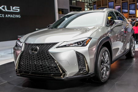 NEW YORK CITYMARCH Lexus UX Shown At The New York - Jacob javits center car show 2018
