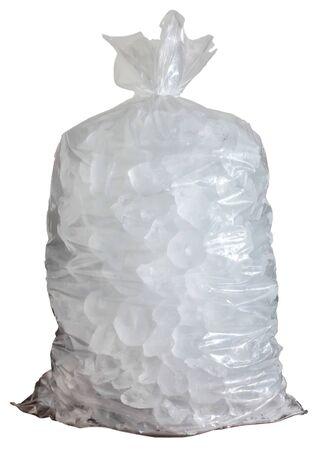 Plastic bag with ice cut out
