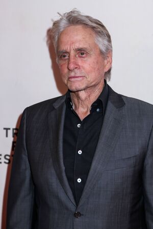 NEW YORK, NY - MAY 03. 2019: Michael Douglas attends at  It Takes A Lunatic  2019 Tribeca Film Festival at Stella Artois Theater at BMCC Tribeca Performing Arts Center