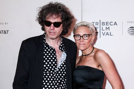 NEW YORK, NY - MAY 03. 2019: John W. Walterr and Vanessa Gould attends at  It Takes A Lunatic  2019 Tribeca Film Festival at Stella Artois Theater at BMCC Tribeca Performing Arts Center