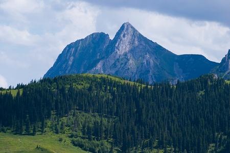 giewont: Giewont Peak in Tatra mountains in Poland Stock Photo