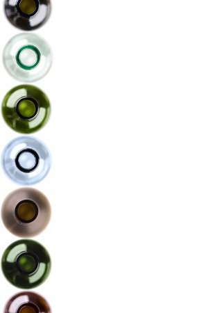 empty wine bottles isolated on white background, ideal for menu